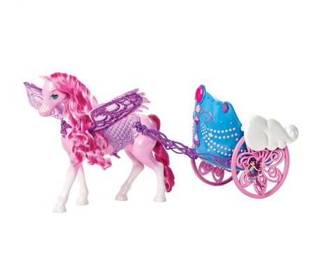 barbie butterfly- princesa fairy carruagem