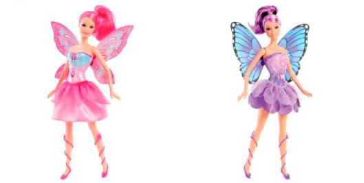 Boneca Barbie - Butterfly e a Princesa Fairy Lilás e rosa