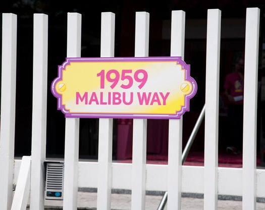 A entrada com o endereço da casa da Barbie | Foto: Museu Encantado - via Facebook